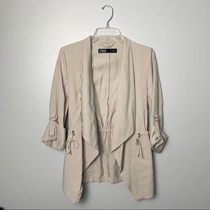 Zara Cream Blazer Jacket